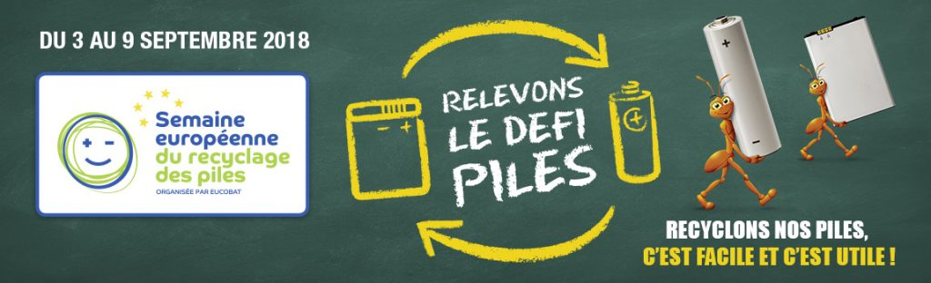 Semaine européenne du recyclage des piles usagées du 3 au 9 septembre