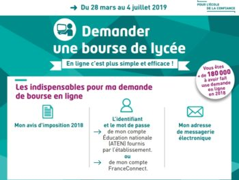 Bourse de Lycée 2019-2020